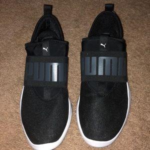 Black slip on Puma